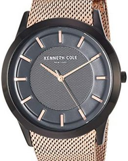 Kenneth Cole New York Men's Slim Watch Japanese-Quartz Stainless-Steel Strap