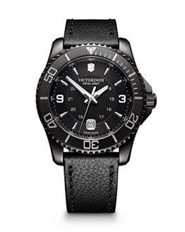 Victorinox Men's Maverick Stainless Steel Swiss-Quartz Watch with Leather Strap