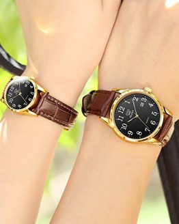 OLEVS Couples Dress Watches for Men and Women Lovers Wedding Gift Set
