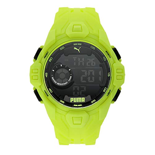 PUMA Men's Quartz Watch with Plastic Strap, Yellow, 20 (Model: P5041)