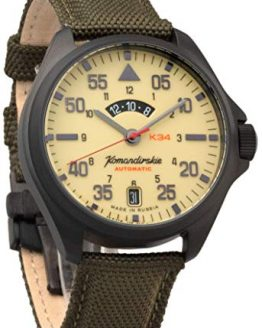 Vostok Komandirskie AUTO Self-Winding Mens Wrist Watch
