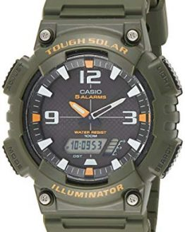 Casio Men's Solar Watch with Green Band