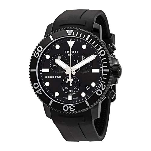 Tissot Men's Black Ion Seastar 1000 Chronograph Watch