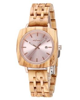 Wooden Watches for Women, shifenmei Couple Wooden Watches Japanese