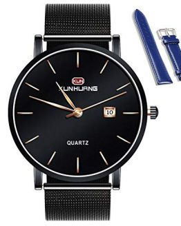 KunHuang 2020 New Men's Fashion Watches Ultra-Thin Designed Dress Watches