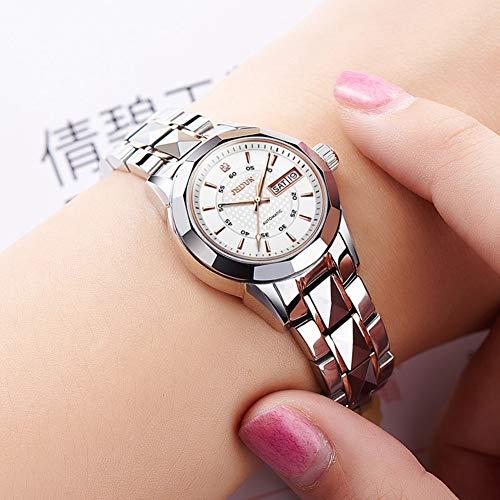 JSDUN Automatic Watches for Women Female Tungsten Steel Mechanical