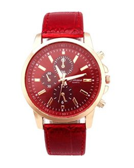 Watch!!! Mens Belt Watch Geneva Leather Analog Dial Quartz Sport Wrist Watch
