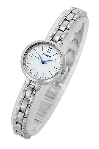 Top Plaza Womens Ladies Silver Elegant Casual Bracelet Wrist Watch