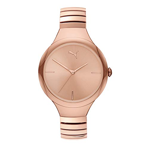 PUMA Women's Quartz Watch with Stainless Steel Strap, Rose Gold