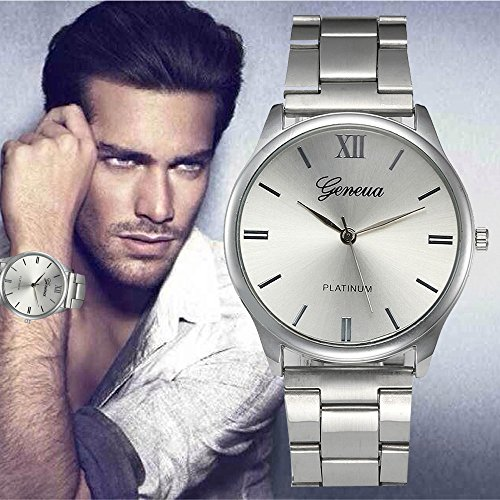 2020 Auwer Watch Luxury Quartz Crystal Sport Stainless Steel Wrist Watch Men