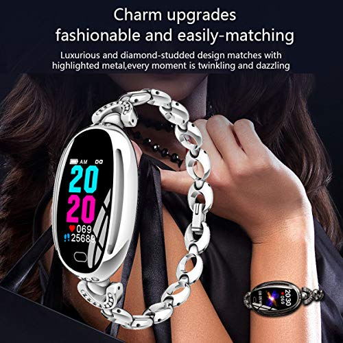Smart Watches for Women Luxury Diamond Bracelet Heart Rate Pedometer