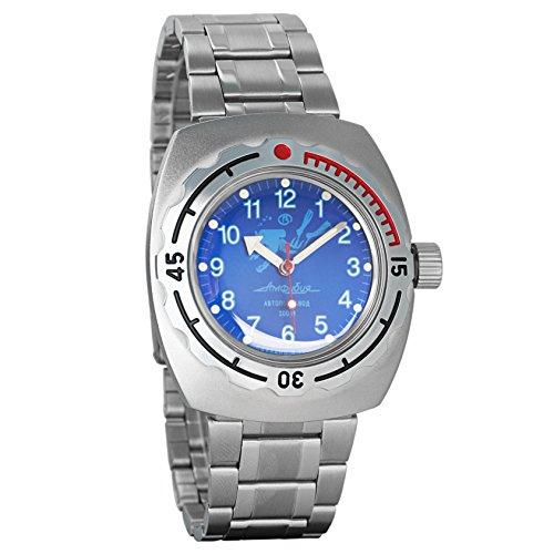 Vostok Amphibian Automatic Mens Wristwatch Self-Winding Military Diver