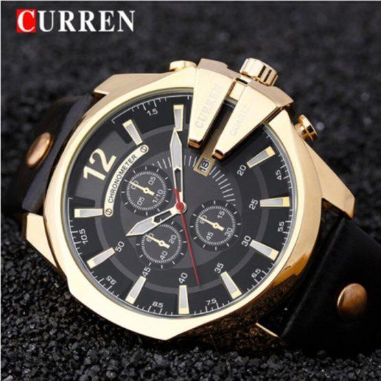 Relogio Masculino CURREN Golden Men Watches Top