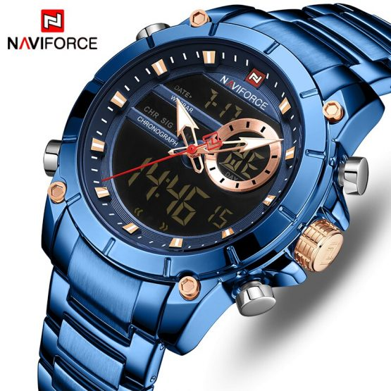 NAVIFORCE Top Brand Luxury Fashion Military Quartz Mens