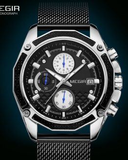 Men Mesh Casual Sport Chronograph Watch