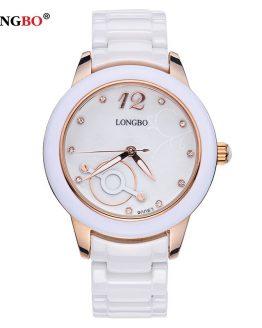 LONGBO Women Watches Luxury Brand Fashion Quartz Ceramic