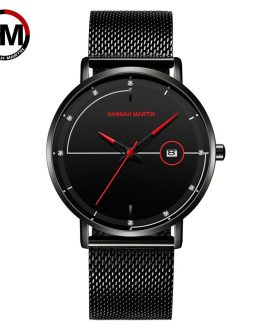 Hannah Martin Fashion Men's Watch Mesh Belt