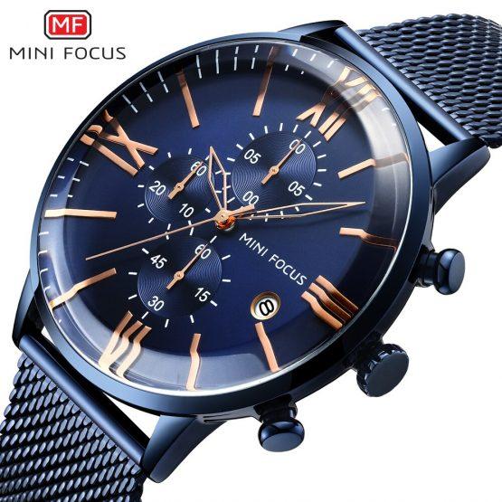 MINI FOCUS Chronograph Mens Watches Top Brand Luxury Quartz