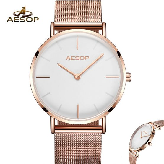 AESOP 7mm Ultra thin Women Ladies Quartz