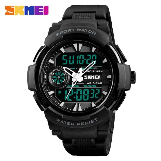 Waterproof Chrono Digital Quartz Watch Men